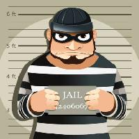 Pixwords The image with thief, jail, criminal Artisticco Llc - Dreamstime