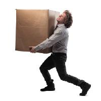 Pixwords The image with box, heavy, man, carry, big Bowie15 - Dreamstime