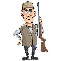 Pixwords The image with gun, man, hunt, hunter Anton Brand - Dreamstime