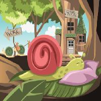 Pixwords The image with snail, home, work, hause Artisticco Llc - Dreamstime