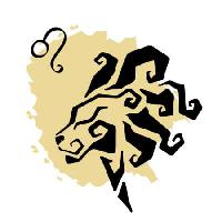 Pixwords The image with abstract, leo, lion, black, yellow, Katyau - Dreamstime