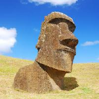 Pixwords The image with stone, statue, easter, island, sky, head, body Peter Marble - Dreamstime