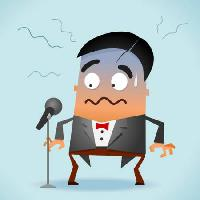 Pixwords The image with sing, song, stage, microphone, man, angry, shy Sukmaraga - Dreamstime