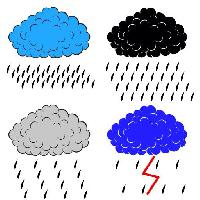 Pixwords The image with cloud, clouds, rain, lightning, blue, grey, black Aarrows