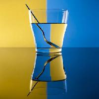 Pixwords The image with glass, spoon, water, yellow, blue Alex Salcedo - Dreamstime