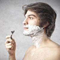 Pixwords The image with razor, man, foam, hair, blade Bowie15 - Dreamstime