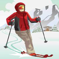 Pixwords The image with ski, winter, snow, mountain, resort, red Artisticco Llc - Dreamstime