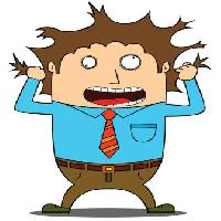 Pixwords The image with hair, man, pull, blue, shirt, tie, stressed zenwae - Dreamstime