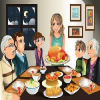 Pixwords The image with dinner, turkey, family, woman, girl, meal Artisticco Llc - Dreamstime
